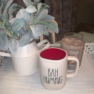"""new : rae Dunn Christmas mug """"bah humpug"""""""